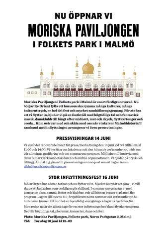 Re:Orient slår upp portarna till Moriska Paviljongen!