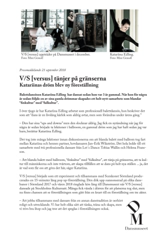 V/S [versus] tänjer på gränserna / Katariinas dröm blev ny föreställning