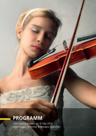 Programm SINFONIMA Konzert 2014
