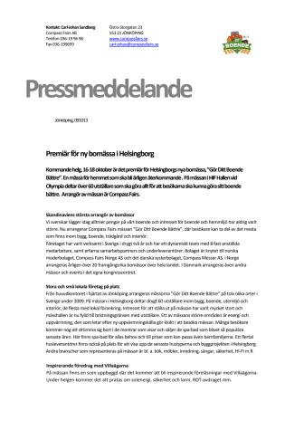 Premiär för ny bomässa i Helsingborg