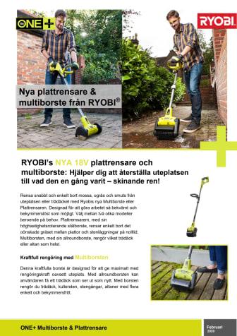 Succén tillbaka! Ryobis nya Plattrensare och Multiborste 2.0