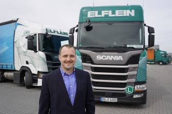 Transport- und Logistikspezialist Elflein setzt auf LNG-Fahrzeuge von Scania.
