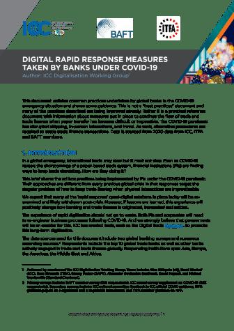 Digital Rapid Response Measures Taken by Banks Under Covid-19