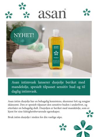 Asan lanserer intimvask beriket med mandelolje