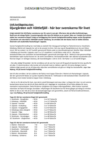 Unik kartläggning visar: Djurgården och Vättlefjäll - här bor svenskarna för livet