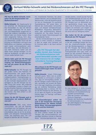 Interview mit Dr. Gerhard H.H. Müller-Schwefe