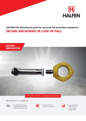 Halfen PSA Ingjutningshylsa för personlig skyddsutrustning