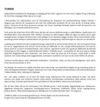 Informationsskylt TURBIN - historien om elektrifieringen av Bergslagen