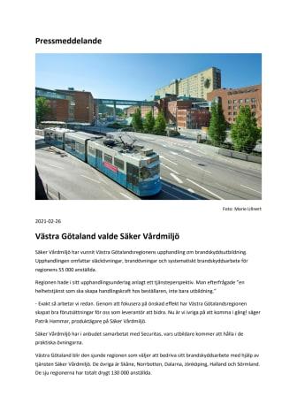 Västra Götaland valde Säker Vårdmiljö