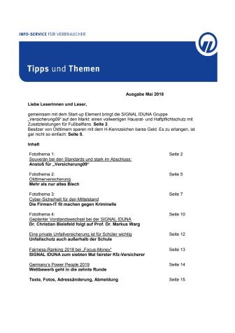 Tipps und Themen 5-2018