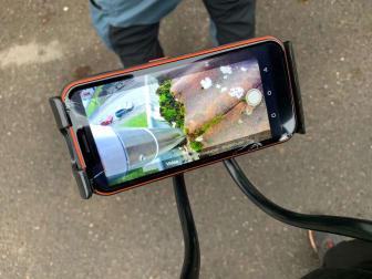Rensning av hängränna, vy i mobil