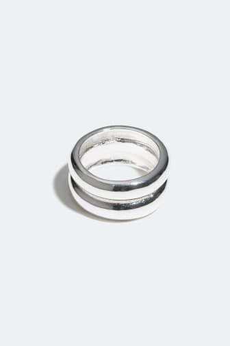 Rings 2-pack, gold + silver, 129 kr