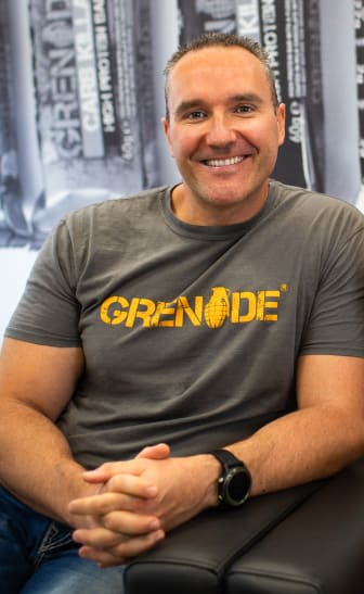 Grenade Founder Alan Barratt