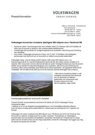 Volkswagen-koncernen investerar ytterligare 500 miljoner euro i Northvolt AB.pdf