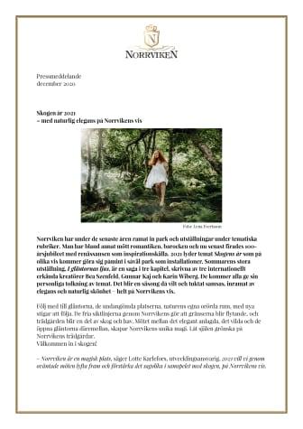 Skogen år 2021 – med naturlig elegans på Norrvikens vis