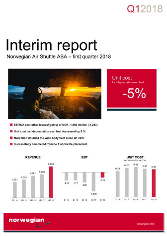 Norwegian Q1 2018 Report