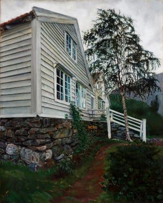 Nikolai Astrup: Prestegården / The Parsonage, olje på lerret, før 1908