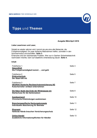 Tipps und Themen 3/4 - 2016