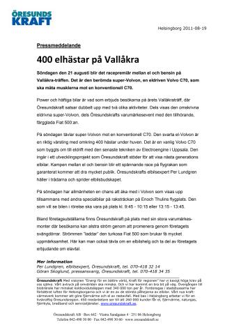 400 elhästar på Vallåkra