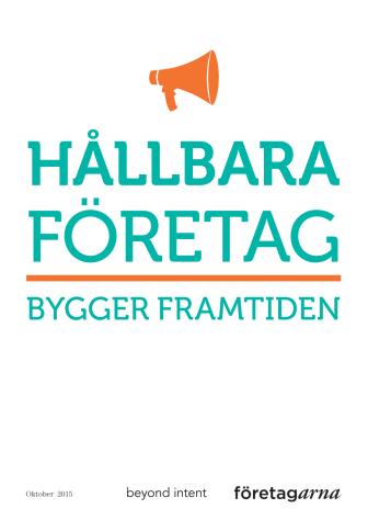 Svenska företag vill jobba hållbart - för att det lönar sig!