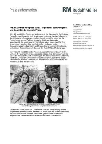 FrauenZimmer-Kongress 2019: Tiefgehend, überwältigend und bereit für die nächste Phase