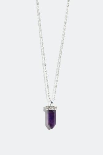 Necklace with semi precious stone -159 kr