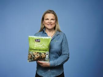 Markeds- og innovasjonsdirektør Aina Hagen og Lantmännen Unibake reduserer plast der de kan