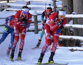 Tarjei og Alexander jaktstart Anterselva