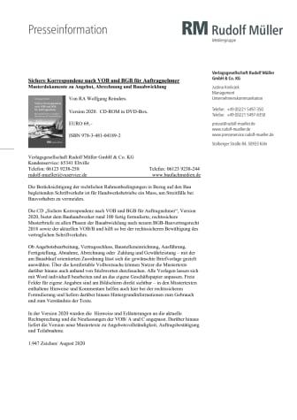 Sichere Korrespondenz nach VOB und BGB für Auftragnehmer