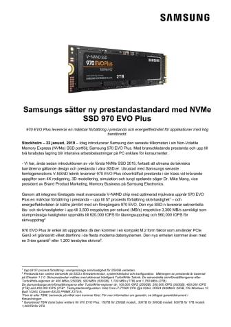 Samsungs sätter ny prestandastandard med NVMe SSD 970 EVO Plus