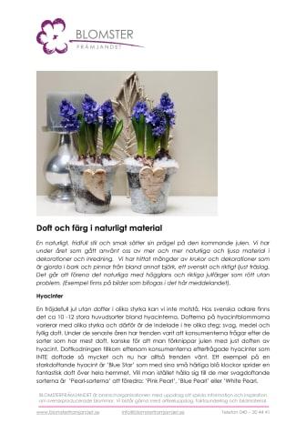 Doft och färg i naturligt material