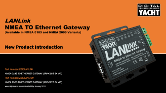 Digital Yacht Europe launches LANLink NMEA to Ethernet Gateway