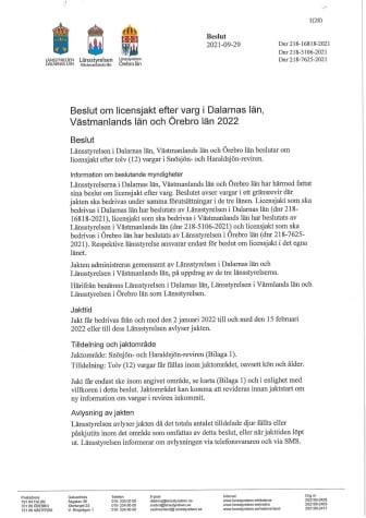 Licensjakt efter varg 2022 dnr 218-16818-2021 (Västmanland och Örebro).pdf