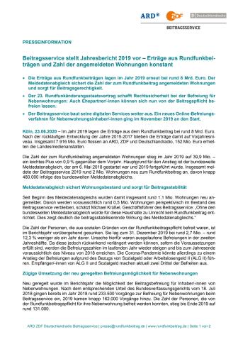 Pressemappe zur Vorstellung des Jahresberichts 2019