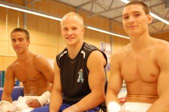 VM-gymnasterna 2009 fr v: Stenberg, Slånvall, Foo