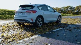 Ford har mätt hur halt lövhalka kan vara.