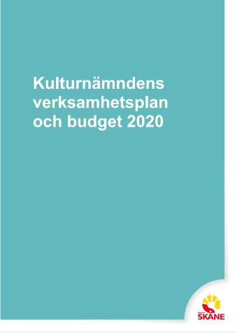 Kulturnämndens verksamhetsplan och budget 2020