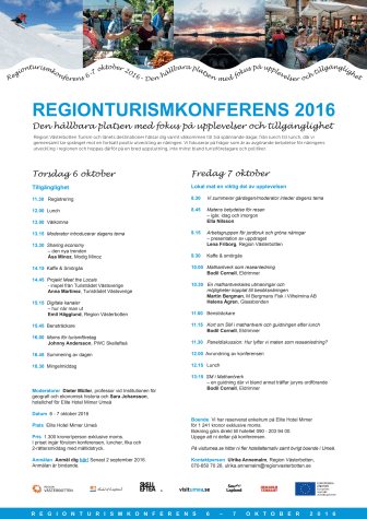 Program för regional turistkonferens
