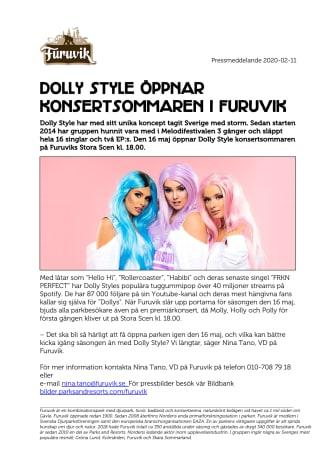 Dolly Style öppnar konsertsommaren i Furuvik