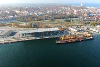Hafenanleger Rostock, Luftbild