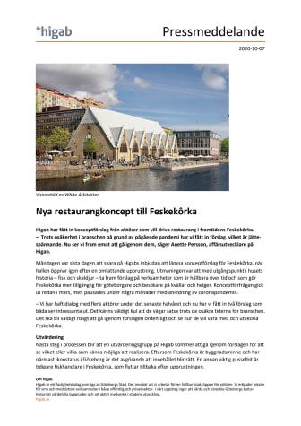 Nya restaurangkoncept till Feskekôrka