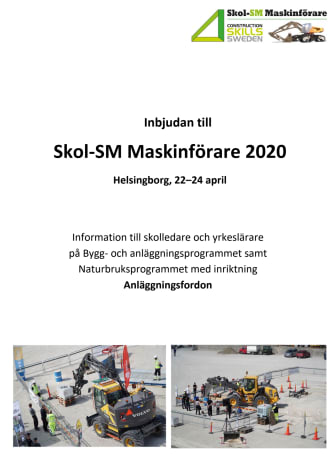 Inbjudan till Skol-SM i för maskinförare