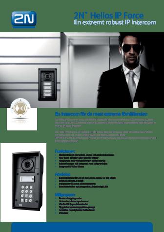 Porttelefoner från Gate Security - 2N Helios IP Force