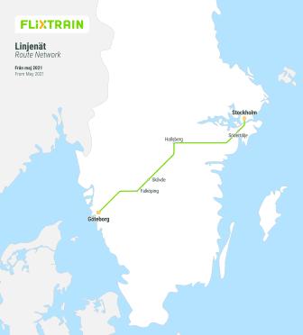 FlixTrain-linjekarta