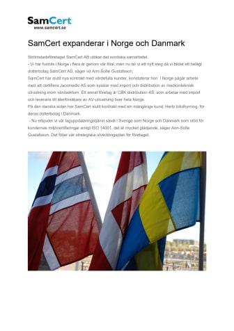 SamCert expanderar i Norge och Danmark