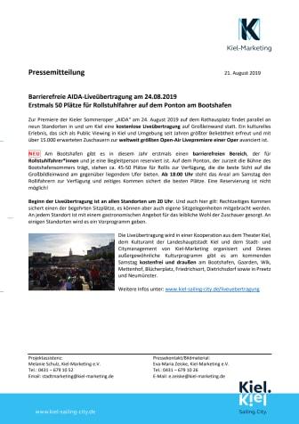 Barrierefreie AIDA-Liveübertragung am 24.08.2019
