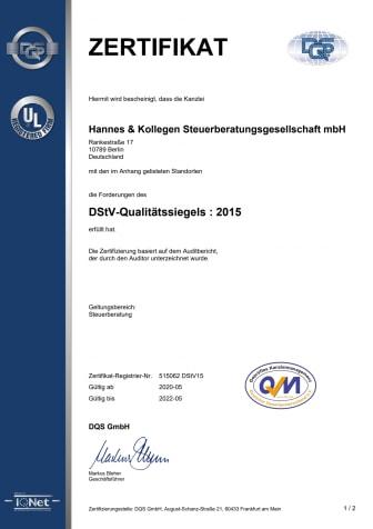 ISO 9001:2015 und DStV-Qualitätssiegel wieder erteilt