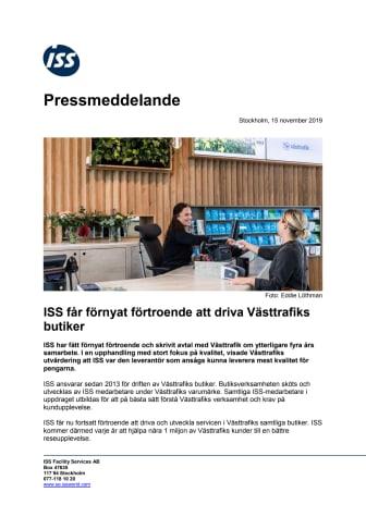ISS får förnyat förtroende att driva Västtrafiks butiker