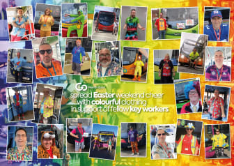 Go North East spread Easter weeekend cheer with colourful clothing in support of fellow key workers