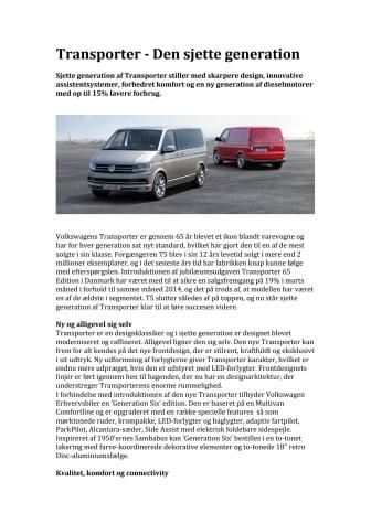 Transporter - Den sjette generation